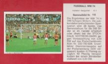 Holland v Bulgaria Neeskens 115